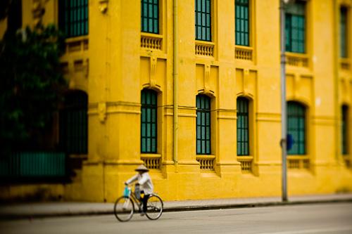 Bicyclist in Hanoi