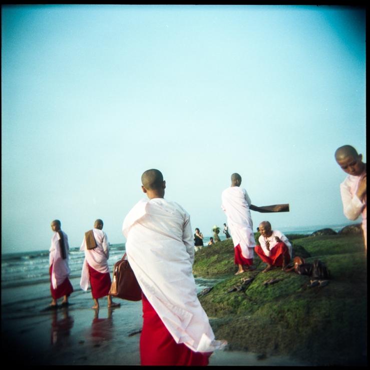 Myanmar Beach Monks-1