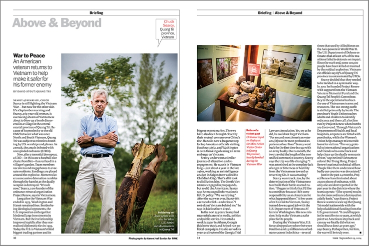 TIME Chuck Searcy Profile Vietnam