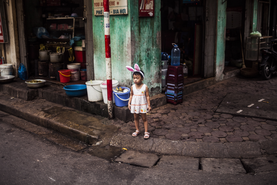 A young girl in Hanoi, Vietnam.