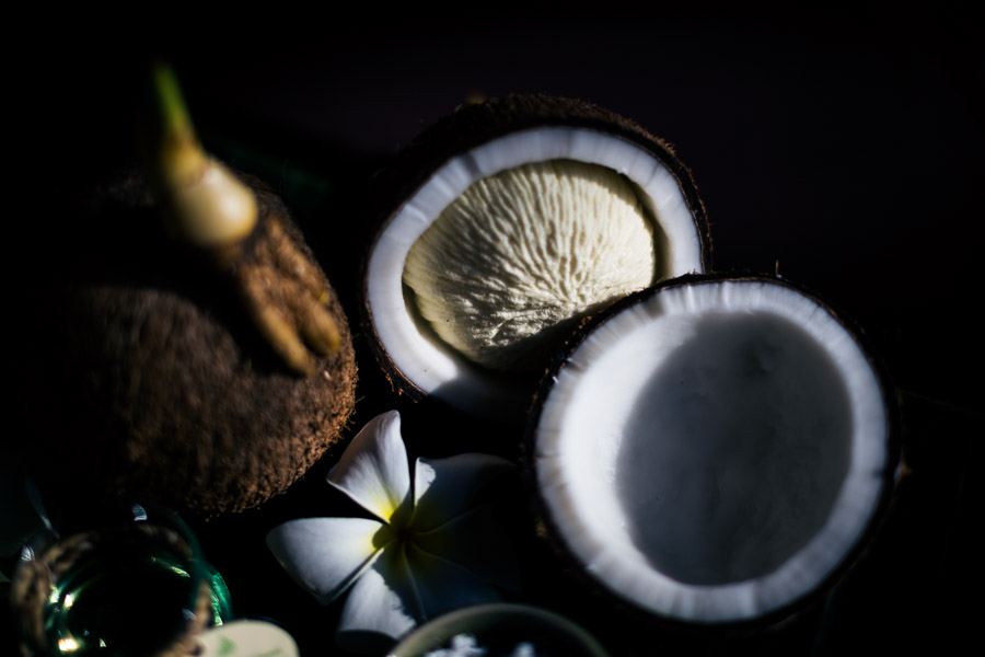 Coconut spa products at the Four Seasons in Koh Samui, Thailand.