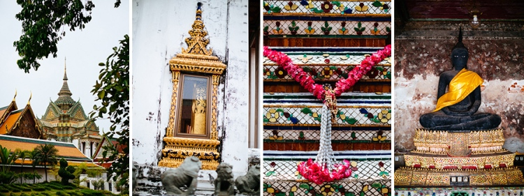Inside the Wat Pho complex in Bangkok, Thailand.