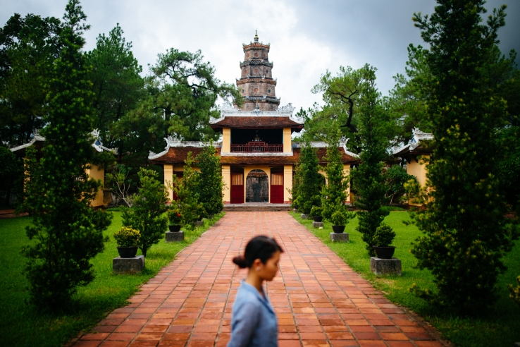 Thien Mua Pagoda in Hue, Vietnam.